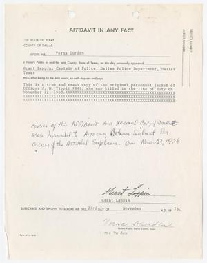 Primary view of object titled '[Affidavit by Grant Lappin]'.