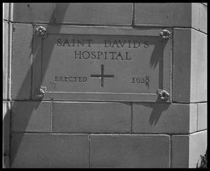 Primary view of object titled 'St. David's Hospital - interior & exterior'.