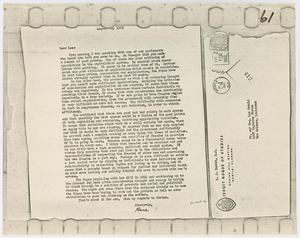 Primary view of object titled '[Letter From E. J. Murret to Lee Harvey Oswald, August 22, 1963]'.