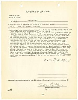 Primary view of object titled '[Affidavit In Any Fact by Mrs. R. A. Reid #1]'.