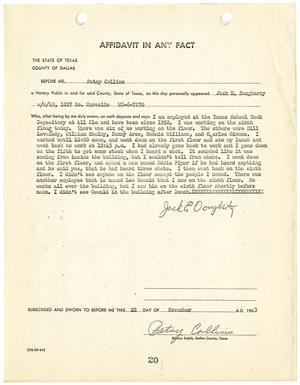 Primary view of object titled '[Affidavit by Jack E. Dougherty #2]'.