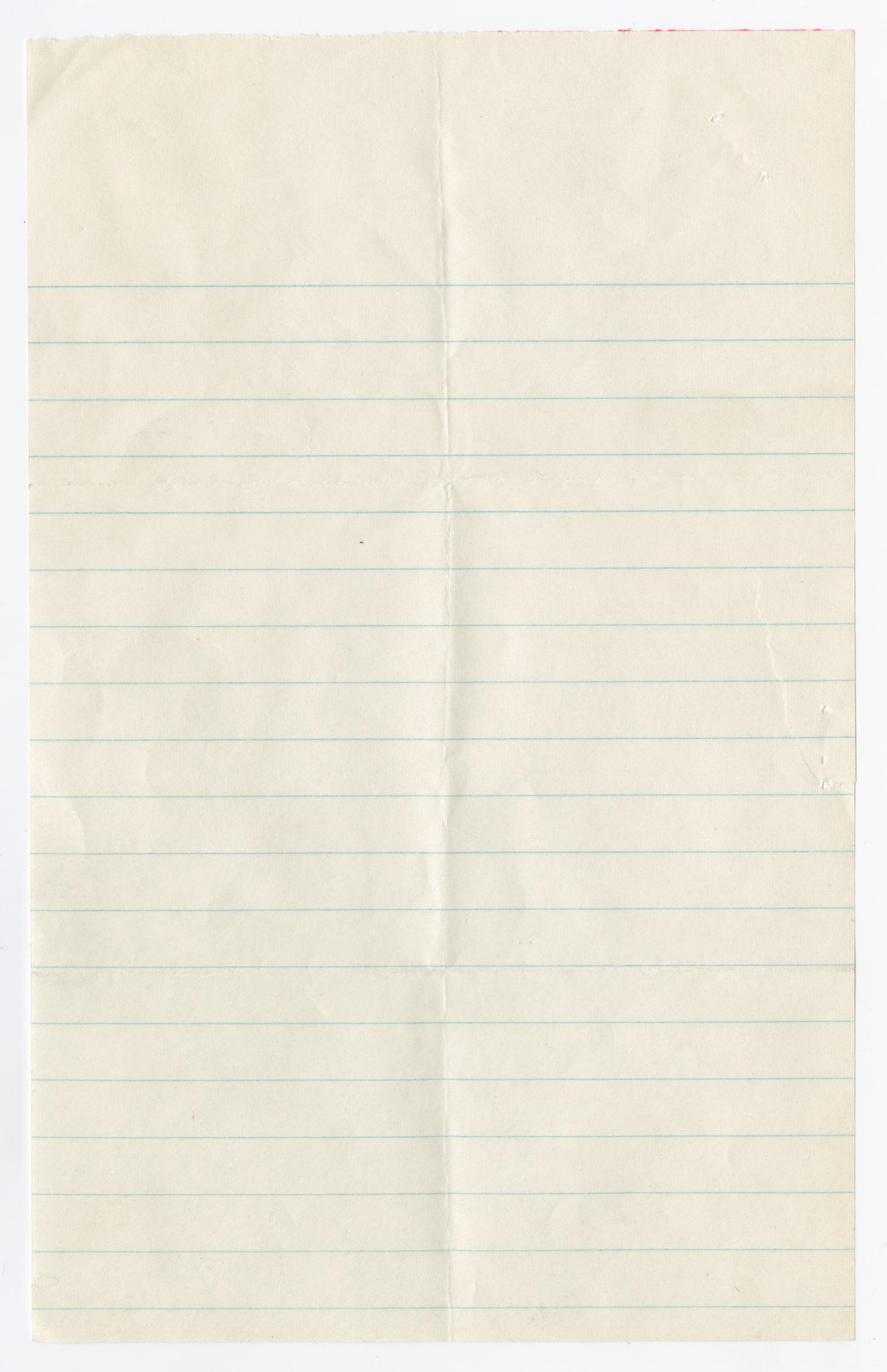 Blank Piece of Lined Paper The Portal to Texas History – Lined Letter Paper