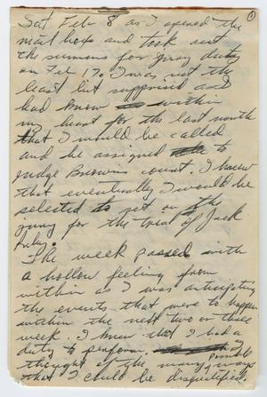 [Journal of Allen McCoy, juror during Jack Ruby trial]