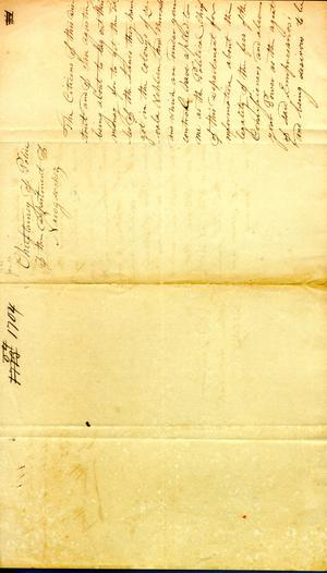 [Letter from Political Chief of Nacogdoches to Archivaldo Hopkins] January 16th 1835