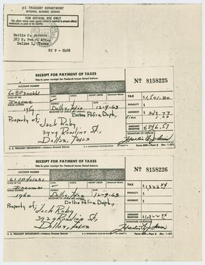 Primary view of object titled '[IRS Tax Information for Jack Ruby #2]'.