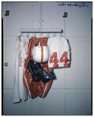 Primary view of object titled 'Football gear drying rack'.