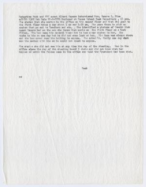 Primary view of object titled '[Note by E. R. Beck, concerning an interview with Geneva Hine #5]'.