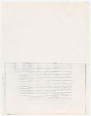 Primary view of object titled '[Prisoner's telephone card]'.