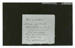 "Primary view of object titled '[Address of ""The Worker""]'."