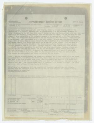 Primary view of object titled '[Supplementary Offense Report by J. R. Leavelle]'.