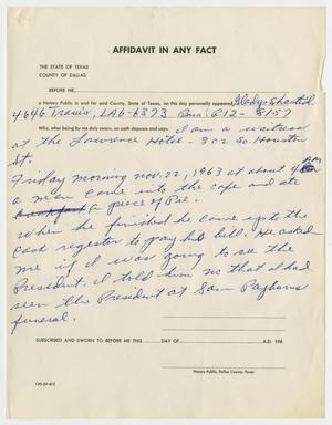 Primary view of object titled '[Affidavit In Any Fact by Gladys Shastid #2]'.