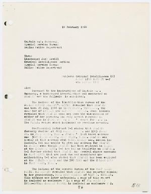 Primary view of object titled '[Report to W. P. Gannaway by H. M. Hart, February 14, 1964 #2]'.