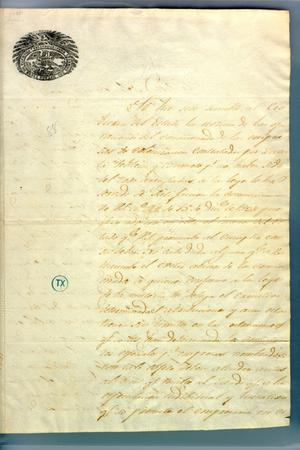 [Letter from Borrego to Political Chief of Nacogdoches]