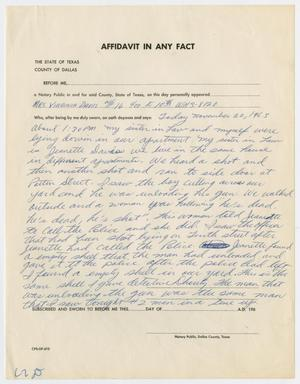 Primary view of object titled '[Affidavit by Virginia Davis #1]'.