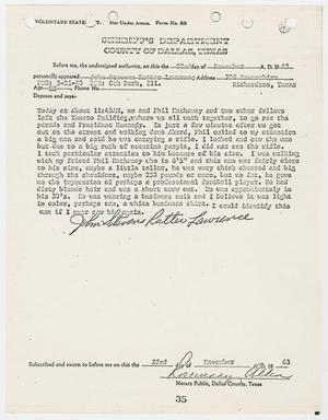 Primary view of object titled '[Voluntary Statement by John Stevens R. Lawrence #2]'.