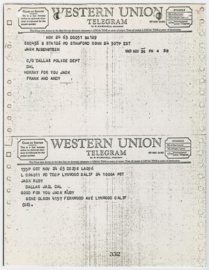 Telegrams Sent to Jack Ruby