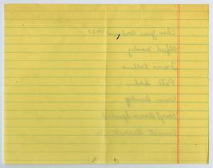 Thumbnail Image Of Item Number 2 In Handwritten List Names By An