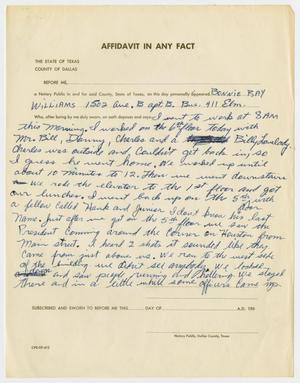 Primary view of object titled '[Affidavit In Any Fact by Bonnie Ray Williams #2]'.