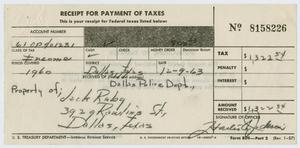 Primary view of object titled '[IRS Tax Information for Jack Ruby #1]'.