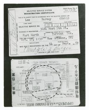 Primary view of object titled '[Cards Belonging to Lee Harvey Oswald]'.