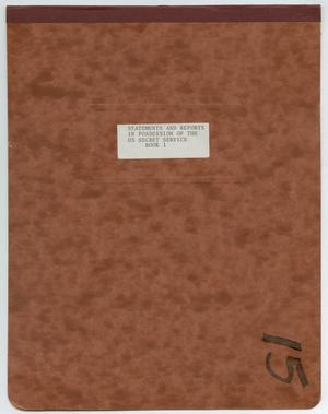 Primary view of object titled '[Front Cover to Bound Notebook]'.