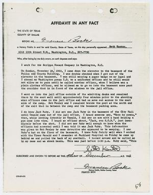 Primary view of object titled '[Affidavit in Any Fact by Seth Kantor]'.