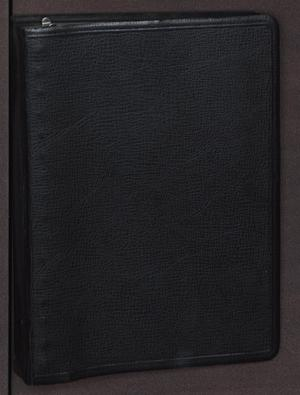 Primary view of object titled '[Cover to small notebook listing property belonging to Lee Harvey Oswald and Jack Ruby]'.