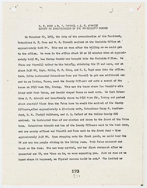 Primary view of object titled '[Report on Officer's Duties by G. F. Rose, in regards to the President's murder #2]'.