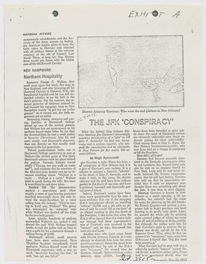 Primary view of object titled '[Magazine Article by Hugh Aynesworth]'.