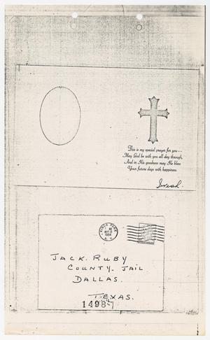Primary view of object titled '[Letters Sent to Jack Ruby in 1964]'.