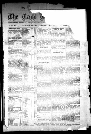 Primary view of object titled 'The Cass County Sun (Linden, Tex.), Vol. 46, No. [47], Ed. 1 Tuesday, November 22, 1921'.
