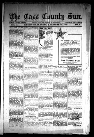 Primary view of object titled 'The Cass County Sun (Linden, Tex.), Vol. 51, No. 5, Ed. 1 Tuesday, February 2, 1926'.