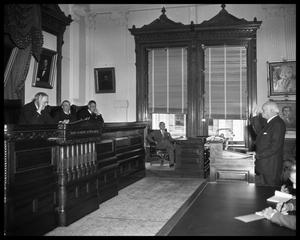Primary view of object titled 'Texas Supreme Court - Harvey Being Sworn In'.