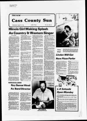 Primary view of object titled 'The New Cass County Sun (Linden, Tex.), Vol. 107, No. 34, Ed. 1 Wednesday, August 24, 1983'.