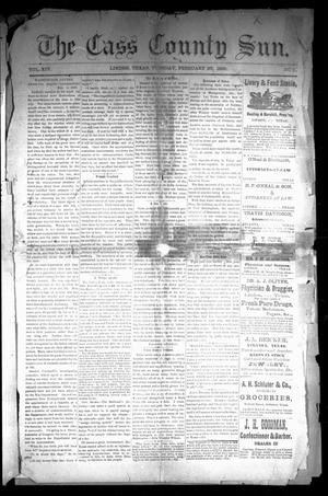 Primary view of object titled 'The Cass County Sun (Linden, Tex.), Vol. 14, No. 9, Ed. 1 Tuesday, February 26, 1889'.