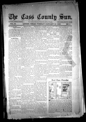 Primary view of object titled 'The Cass County Sun (Linden, Tex.), Vol. 53, No. 2, Ed. 1 Tuesday, January 10, 1928'.
