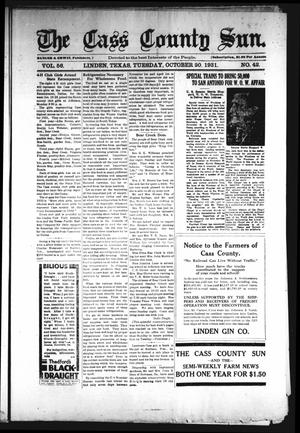 Primary view of object titled 'The Cass County Sun (Linden, Tex.), Vol. 56, No. 42, Ed. 1 Tuesday, October 20, 1931'.