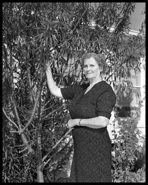 Primary view of object titled 'Mrs. Etta Roper and Almond Tree'.