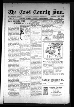 Primary view of object titled 'The Cass County Sun (Linden, Tex.), Vol. 51, No. 36, Ed. 1 Tuesday, September 7, 1926'.