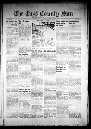Primary view of object titled 'The Cass County Sun (Linden, Tex.), Vol. 64, No. 39, Ed. 1 Thursday, September 28, 1939'.