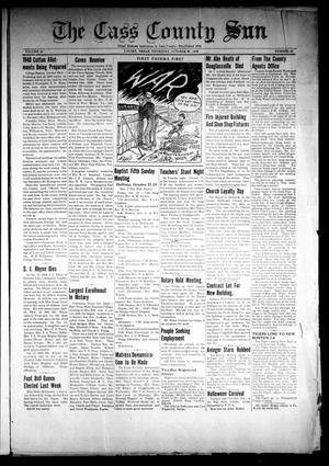 Primary view of object titled 'The Cass County Sun (Linden, Tex.), Vol. 64, No. 43, Ed. 1 Thursday, October 26, 1939'.