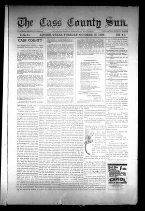 Primary view of object titled 'The Cass County Sun (Linden, Tex.), Vol. 51, No. 41, Ed. 1 Tuesday, October 12, 1926'.