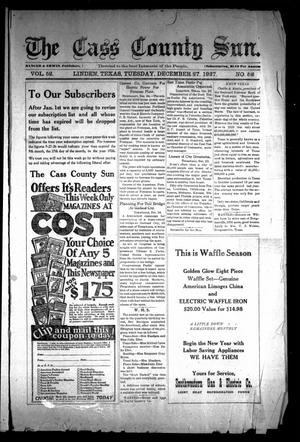 Primary view of object titled 'The Cass County Sun (Linden, Tex.), Vol. 52, No. 52, Ed. 1 Tuesday, December 27, 1927'.