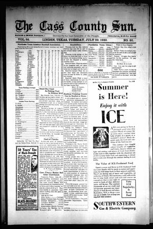 Primary view of object titled 'The Cass County Sun (Linden, Tex.), Vol. 55, No. 30, Ed. 1 Tuesday, July 29, 1930'.