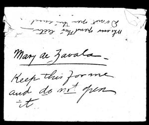[Letter from Adina to Mary] November 15th, 1900