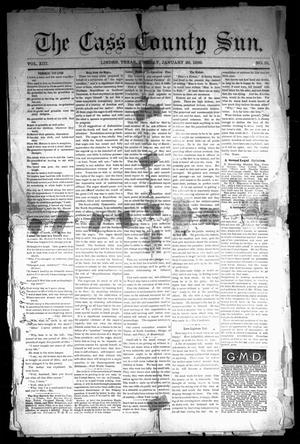 Primary view of object titled 'The Cass County Sun (Linden, Tex.), Vol. 13, No. 51, Ed. 1 Tuesday, January 29, 1889'.