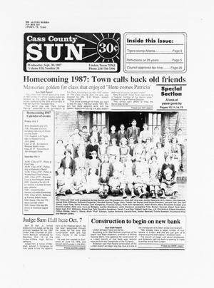 The New Cass County Sun (Linden, Tex.), Vol. 110, No. 38, Ed. 1 Wednesday, September 30, 1987