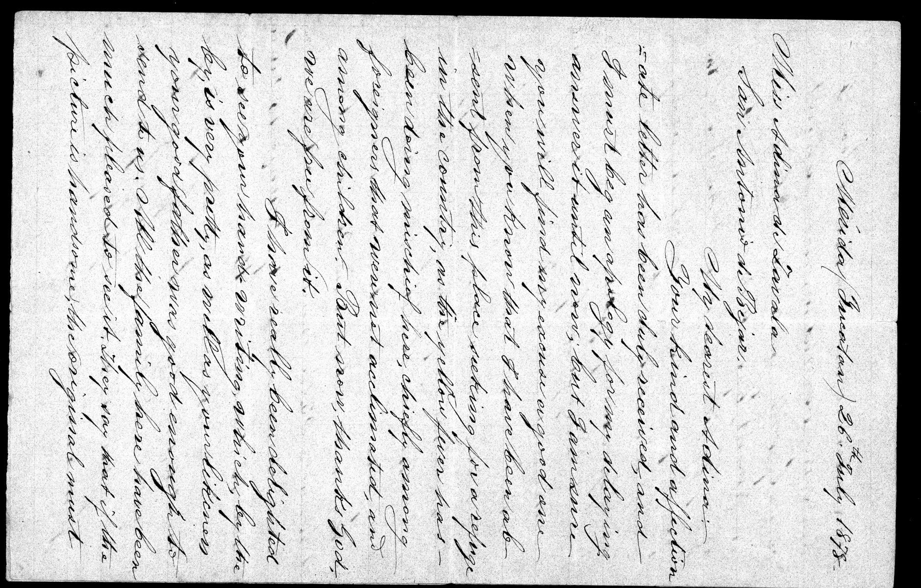 [Letter from de Zavala Jr. to Adina July 26th 1878]                                                                                                      [Sequence #]: 1 of 2