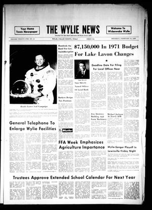 Primary view of object titled 'The Wylie News (Wylie, Tex.), Vol. 22, No. 36, Ed. 1 Thursday, February 19, 1970'.