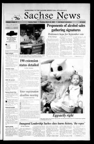 Primary view of object titled 'The Sachse News (Sachse, Tex.), Vol. 1, No. 8, Ed. 1 Thursday, March 24, 2005'.